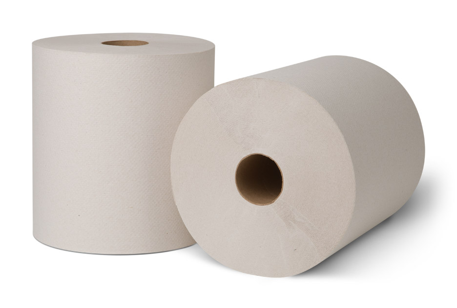 7171400 EcoSoft White Controlled Roll Towels 6