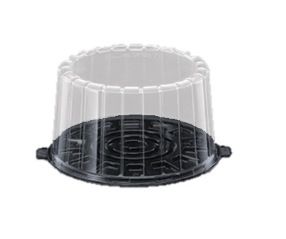 "1008BK 8"" Double Layer Cake Containers with Lid - 100"