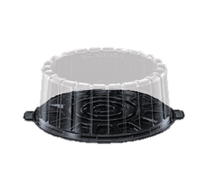 "1008SBK 8"" Single Layer Cake Containers with Lid - 100"