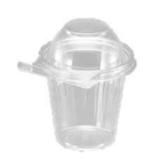 TS12CCRD Clear 12 oz. Safe-T-Fresh Tamper Resistant