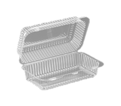"SLP35 Clear Hinged Hoagie Container (9"" x 5"" x 3"") - 500"