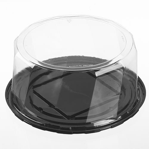 "CK100CMBSF105 Black 10""(8""/9"") Cake Base w/ 5"" Dome Lid - 100"