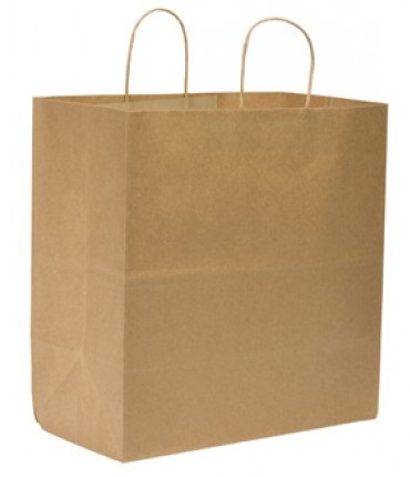 87145 Kraft Super Royal Large Shopping Handle Bag