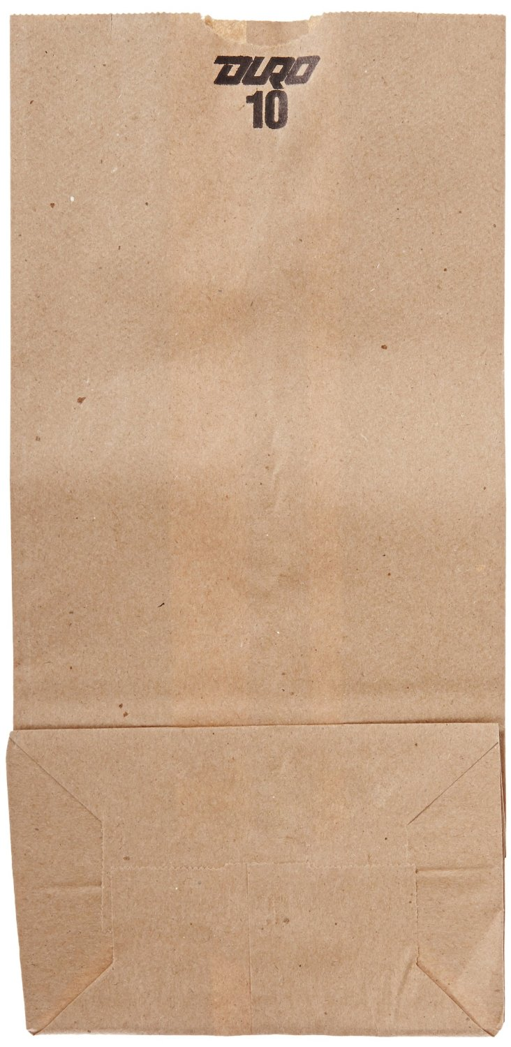 "18410 Brown 10 lb. 6 5/16"" x 4 3/16"" x 13 3/8"" Grocery Bag"
