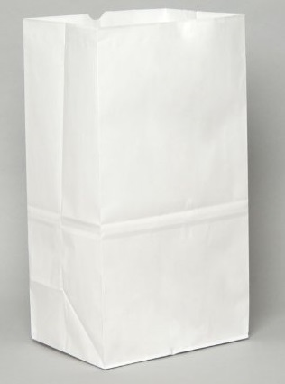25# Regular White Grocery Bags - 500