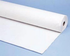 114000 40x300 White Plastic Table Roll - 1