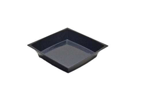 "APTSQ25BL Petites Black 2.5"" Square Dishes - 200(4/50)"