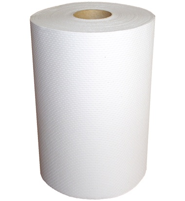 "H230 Decor 7.9"" x 350' White Roll Towel - 12"