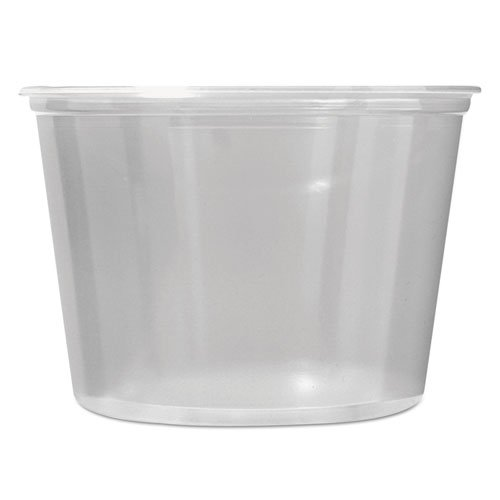 PK16S-C Clear 16 oz. Pro-Kal Microwavable Deli Containers