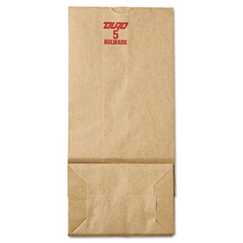 "5# Natural Heavy Duty 5.25"" x 3.44"" x 10.94"" Grocery Bags -"