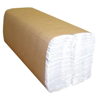 "H180 Select White 13"" x 10"" C-Fold Towels - 2400(12/200)"