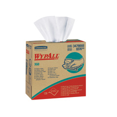 "34790 Wypall X60 White Wipers 4-ply (9.1""x16.8"") - 1260"