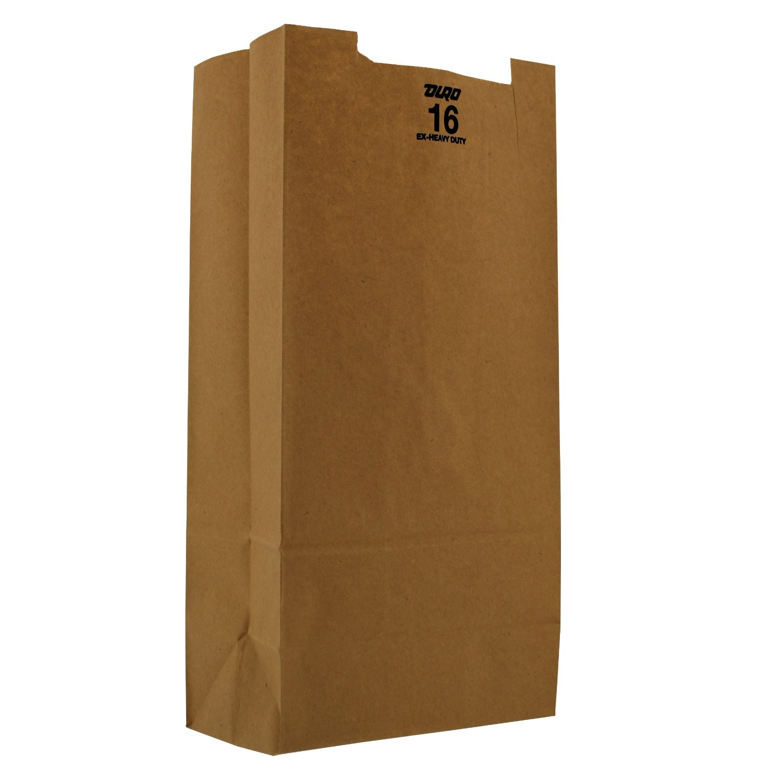 16# Natural Heavy Duty Paper Bags - 500(2/250)