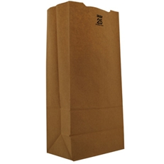 "25# Natural 8.25"" x 5.25"" 18"" Extra Heavy Duty Grocery Bags"