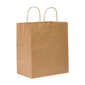 "88155/87490 Brown 10"" x 6.75"" x 12"" Bistro Carry Out Bags -"