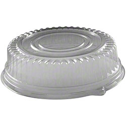 "51230 Clear 12"" Ebony 2 Cater 3"" Deep PETE Dome Lids - 50"