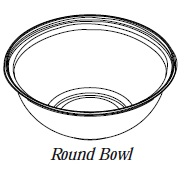 "5G160A-BWL Clear 12"" 160 oz. Round PETE Bowls - 50"