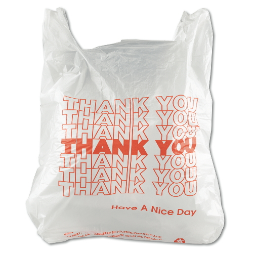 White-1024789 Thank You 11.5x6.5x20 T-Sacks 12 Micron